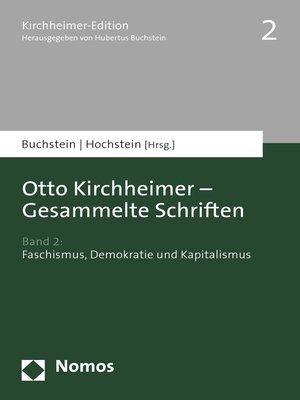 cover image of Band 2: Faschismus, Demokratie und Kapitalismus