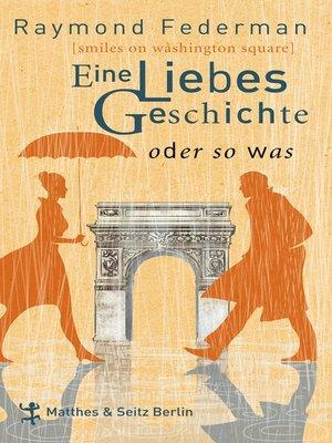cover image of Eine Liebesgeschichte oder sowas