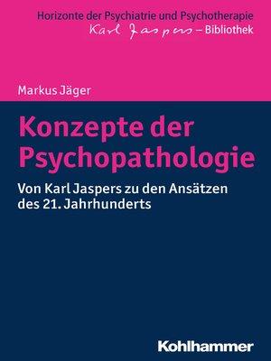 cover image of Konzepte der Psychopathologie