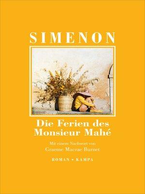 cover image of Die Ferien des Monsieur Mahé