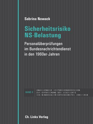 cover image of Sicherheitsrisiko NS-Belastung