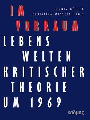 cover image of Im Vorraum