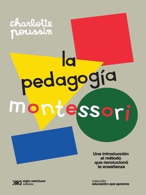 cover image of La pedagogía Montessori