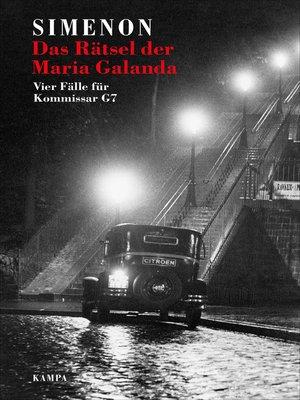 cover image of Das Rätsel der Maria Galanda