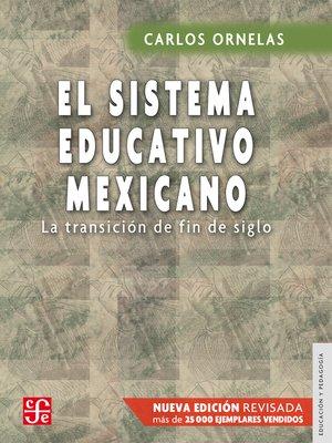 cover image of El sistema educativo mexicano