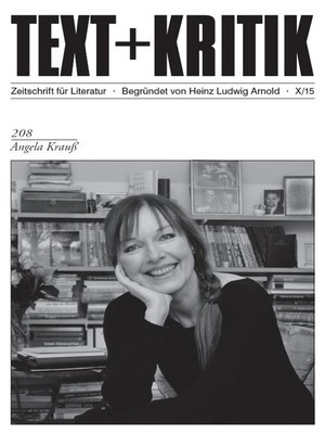 cover image of TEXT+KRITIK 208--Angela Krauß