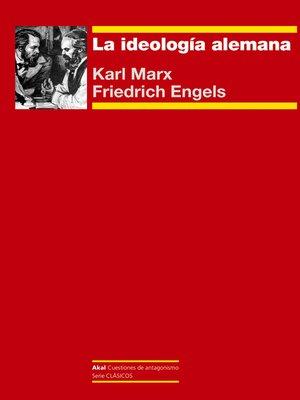 cover image of La ideología alemana