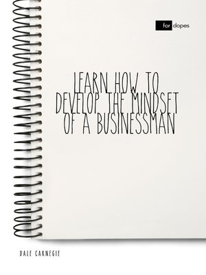 cover image of Learn How to Develop the Mindset of a Businessman