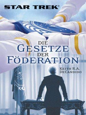 cover image of Star Trek--Die Gesetze der Föderation