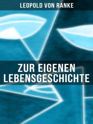 cover image of Zur eigenen Lebensgeschichte