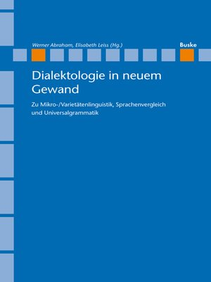 cover image of Dialektologie in neuem Gewand