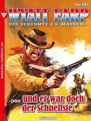 cover image of Wyatt Earp 181 – Western