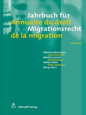 cover image of Jahrbuch für Migrationsrecht 2014/2015