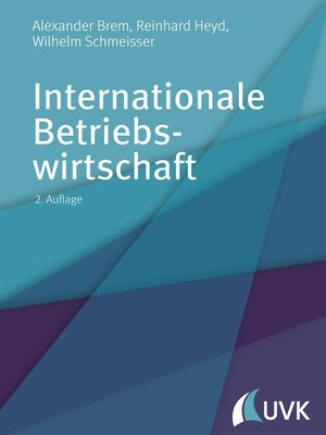 cover image of Internationale Betriebswirtschaft