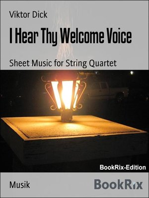 cover image of I Hear Thy Welcome Voice