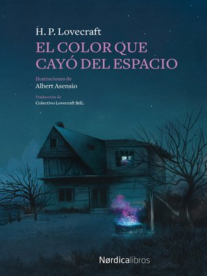 cover image of El color que cayó del espacio