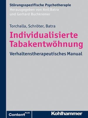 cover image of Individualisierte Tabakentwöhnung