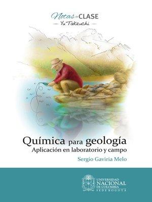 cover image of Química para geología