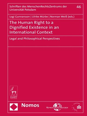 cover image of The Human Right to a Dignified Existence in an International Context