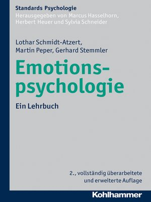 cover image of Emotionspsychologie