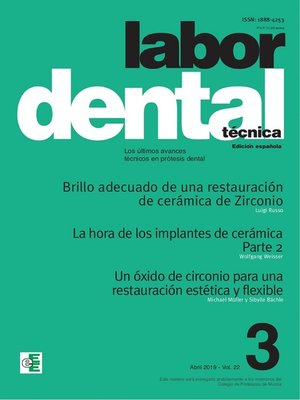 cover image of Labor Dental Técnica Volume22 Abril 2019 nº3