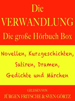 cover image of Die Verwandlung – sowie zahlreiche weitere Meisterwerke der Weltliteratur