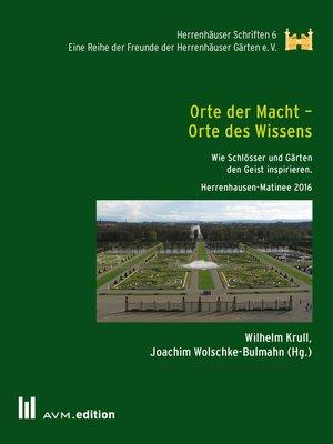 cover image of Orte der Macht--Orte des Wissens