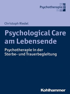 cover image of Psychological Care am Lebensende