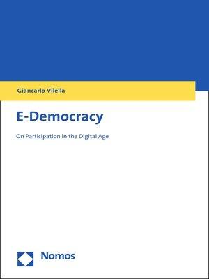 cover image of E-Democracy