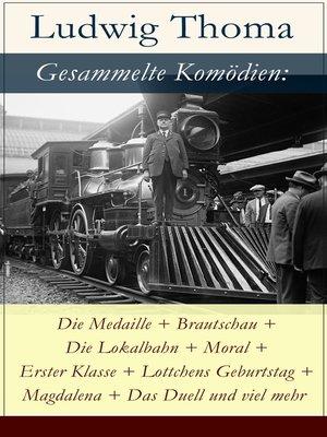 cover image of Gesammelte Komödien