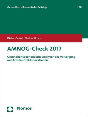 cover image of AMNOG-Check 2017