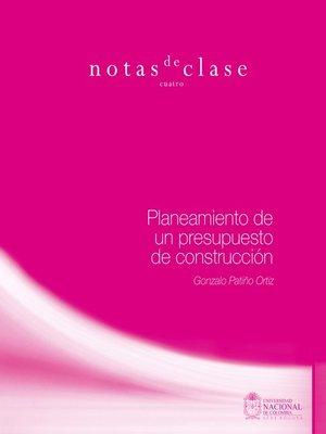 cover image of Planeamiento de un presupuesto de construcción