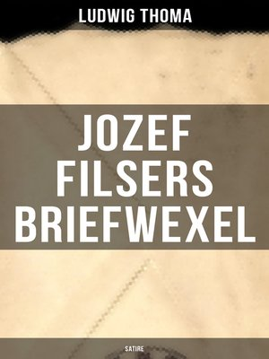 cover image of Jozef Filsers Briefwexel (Satire)
