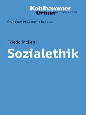 cover image of Sozialethik