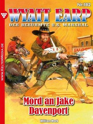 cover image of Wyatt Earp 182 – Western