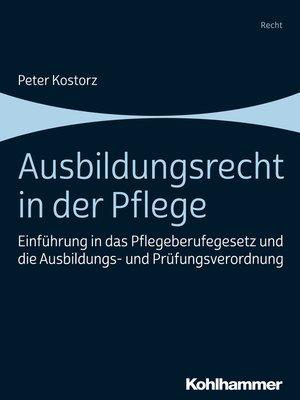 cover image of Ausbildungsrecht in der Pflege
