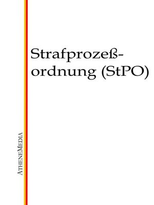 cover image of Strafprozessordnung (StPO)