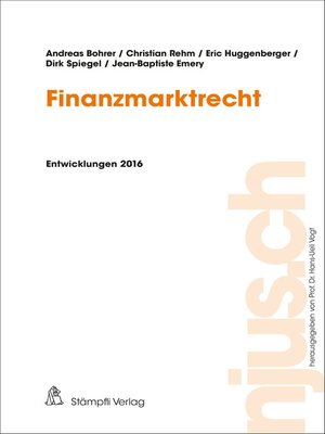 cover image of Finanzmarktrecht