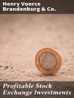 cover image of Profitable Stock Exchange Investments