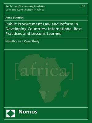 cover image of Public Procurement Law and Reform in Developing Countries