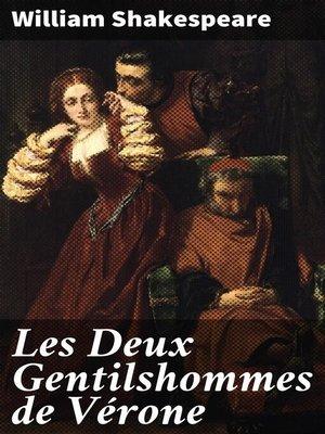 cover image of Les Deux Gentilshommes de Vérone