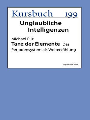 cover image of Tanz der Elemente