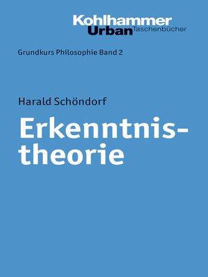 cover image of Erkenntnistheorie