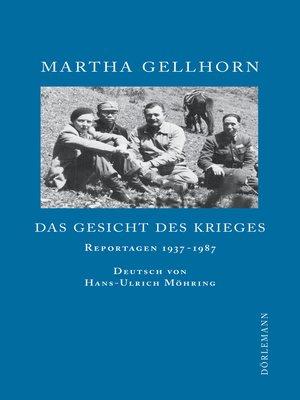 cover image of Das Gesicht des Krieges