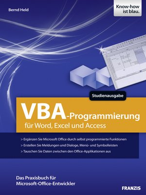 cover image of VBA-Programmierung für Word, Excel und Access