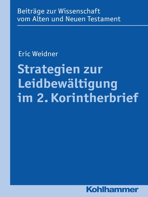 cover image of Strategien zur Leidbewältigung im 2. Korintherbrief