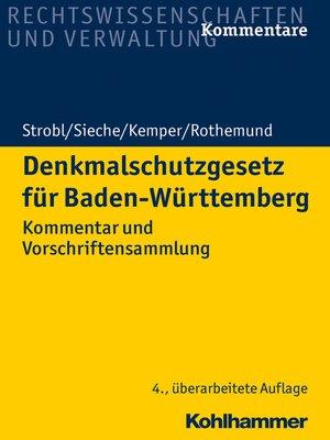 cover image of Denkmalschutzgesetz für Baden-Württemberg