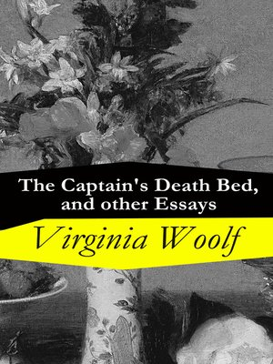 cover image of The Captain's Death Bed, and other Essays