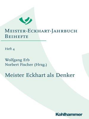 cover image of Meister Eckhart als Denker