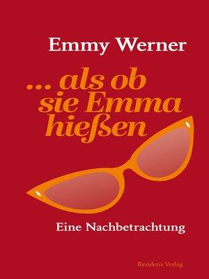 cover image of ...als ob sie Emma hießen
